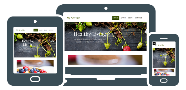 New Site Builder fully responsive design